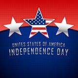 Three silver stars 4th of july background. Vector Royalty Free Stock Photography