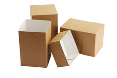 Three simple carton boxes Stock Image