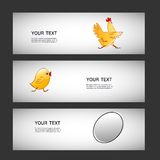 Three simple vector sticker egg, chicken, chicken Stock Photography