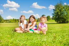 Three sister in the park Stock Photo