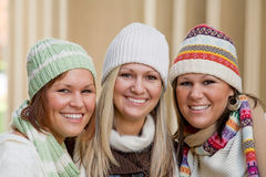 Three Sisters. In the Winter Royalty Free Stock Image