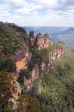 The Three Sisters. Is one of the famous symbols of the Blue Mountains National Park close to Sydney, New South Wales, Australia Stock Photo