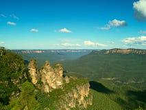 The Three Sisters. In the Blue Mountains, Katoomba, Australia Stock Photos