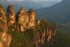 The Three Sisters. 'The Three Sisters', Katoomba, Blue MOuntains, Australia stock photography