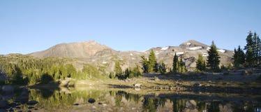 Three Sisters and Arrowhead Lake Stock Photo