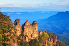 Three Sisters Australia. The Three Sisters From Echo Point, Blue Mountains National Park, NSW, Australia stock images