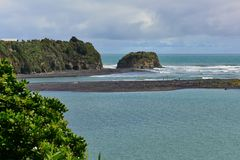 Three Sisters Beach and Elephant Rock formations Royalty Free Stock Photography