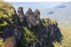 Three Sisters is the Blue Mountains' most Impressive landmark. Located at Echo Point Katoomba, New South Wales, Australia royalty free stock photography