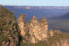 Three Sisters Blue Mountains panoramic view Stock Images
