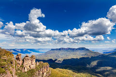 Three sisters in Blue Mountains. In Australia royalty free stock photography