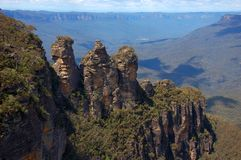 Three Sisters, Blue Mountains, Australia Stock Image