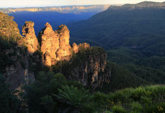 Three Sisters in the Blue Mountains. The Three Sisters in the Blue Mountains National Park, New South Wales, Australia Stock Image