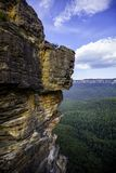 Three Sisters, Blue Mountains National Park. This is the view of the first of the three sisters royalty free stock photo
