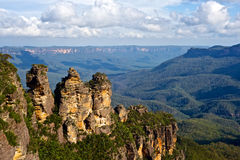 The Three Sisters, Blue Mountains, New South Wales, Australia. The Three Sisters is a rock formation in the Blue Mountains of New South Wales, Australia, on the Stock Photography