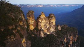 The Three Sisters in the Blue Mountains stock footage
