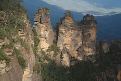 The Three Sisters in the Blue mountains Royalty Free Stock Photo