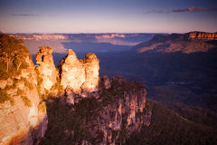 Three Sisters in the Blue Mountains Stock Image