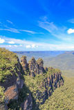 Three sisters in Blue Mountains in Sydney Royalty Free Stock Photos