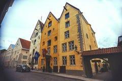 Three sisters buildings in Tallinn Royalty Free Stock Images