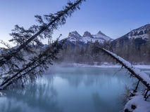 Three Sisters, Canmore Royalty Free Stock Photo