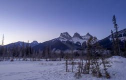 Three Sisters, Canmore Royalty Free Stock Photography