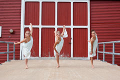 Three sisters dancing Royalty Free Stock Photos