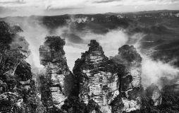The Three Sisters From Echo Point Stock Images