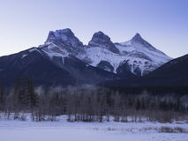 Three Sisters from a frozen Policemen`s Creek Stock Photography