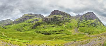 Three Sisters of Glencoe, Scotland Stock Image