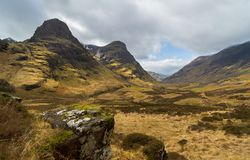 Three Sisters, Glencoe Valley Royalty Free Stock Photos