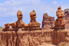 Three Sisters Goblin Valley State Park Utah Stock Photo