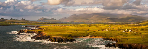 The three sisters. Are a group of three peaks at the northwestern end of the Dingle Peninsula in County Kerry, Ireland. The stunning Dingle Peninsula stretches Royalty Free Stock Photos