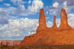 The Three Sisters, Monument Valley Royalty Free Stock Photos
