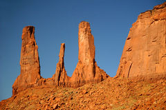 Three Sisters - Monument Valley, Arizona Royalty Free Stock Image