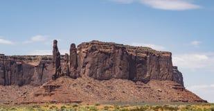 Three Sisters, Monument Valley. Arizona, AZ, USA Royalty Free Stock Images