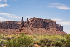 Three Sisters, Monument Valley Stock Photos
