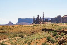Three Sisters, Monument Valley Stock Image