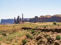 Three Sisters, Monument Valley Royalty Free Stock Photo