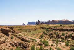 Three Sisters, Monument Valley Royalty Free Stock Images
