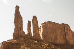 The three sisters in Monument Valley tribe park Stock Image