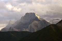 Three Sisters Mountain, Canmore, Alberta Royalty Free Stock Photo