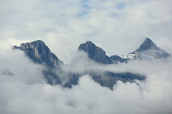 Three Sisters mountain range Royalty Free Stock Image