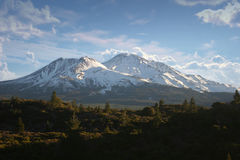 Three Sisters Mountains Stock Photography
