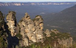 Three sisters Mountains. The three sisters at the blue mountains stock images