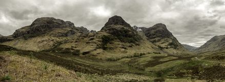 The Three sisters in Scotland royalty free stock photo