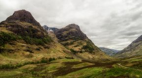 The Three sisters in Scotland stock photos
