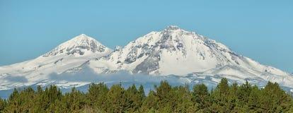 Three Sisters mountains, Oregon. Three Sisters mountains at Oregon Royalty Free Stock Photos