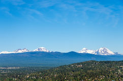 Three Sisters Mountains Royalty Free Stock Photography