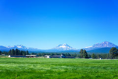 Three Sisters Mountains Royalty Free Stock Photo