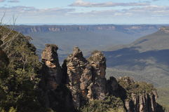 The three sisters New South Wales Australia Stock Photos